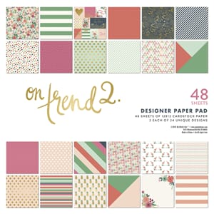 My Mind's Eye - On Trend 2 Paper Pad, 12x12 inch, 48/Pkg