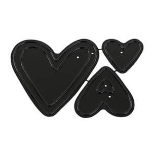 Hearts deep edge dies, 3/Pkg