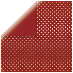 Echo Park Paper - Gold foil Deep Red 12x12 inch