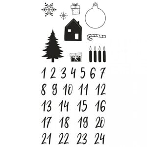 Christmas Adventskalender Classic clear stamp, str 97x205 mm