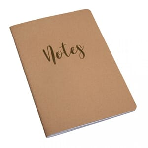 Booklet Notes, str A5, 60 sider, liniert, 80 g/m², kraft