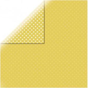 Dots & Stripes - Corn Yellow, str 12x12 inch