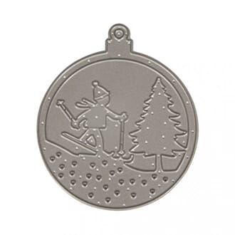 Rayher: Christmas Ornament Cross contry skiing dies