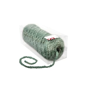 Wool cord with jute core, 8mm ø, turquoise