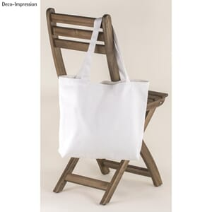 Basic Shopper - Hvit,, str 46x35cm, 330g/m²