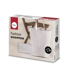 Fashion Shopper - Hvit,, str 46x46cm, 330g/m²
