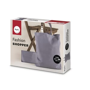 Fashion Shopper - Grå,, str 46x46cm, 330g/m²
