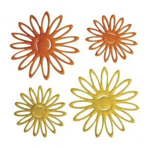 Rayher: Felt Object summer flowers, yellow & orange