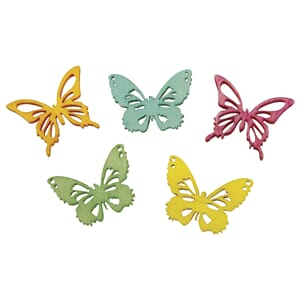 Tredekor - Butterflies 5 colors, 2cm, 25/Pkg