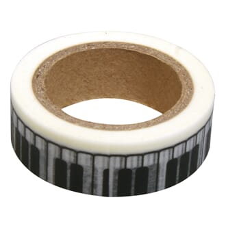 Washi Tape keyboards, 15mm, roll 15m