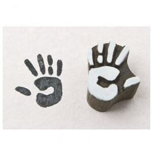 Rayher: Handprint - Blockwallah stamp