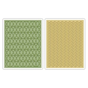 Sizzix: Chevron & Lattice Texture Fades Emb. Folder