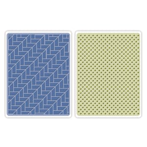 Sizzix: Houndstooth & Dots Textured Impressions Emb. Folders