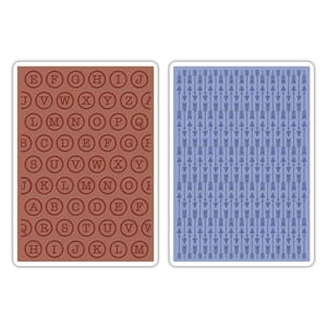 Sizzix: Arrows & Typewriter Textured Impressions Emb.Folders