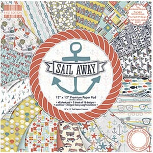 First Edition - Sail Away Paper Pad, 12x12 inch, 48/Pkg