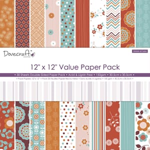 Dovecraft: More or less Paper Pad, 12X12, 30/Pkg