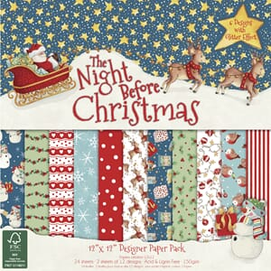 The Night before Christmas, 12x12 Paper Pad, 36/Sheet