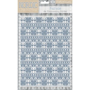 Nordic Christmas Emb. Folder - Fairisle, A4 str