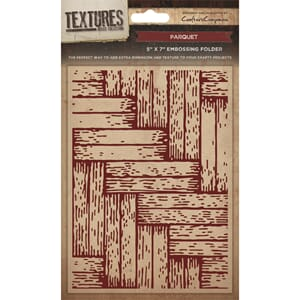 Crafter's Companion: Parquet Embossing Folder, 1/Pkg
