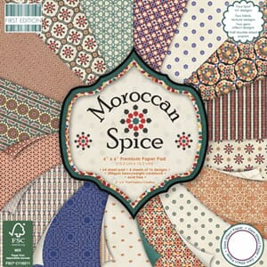 First Edition - Moroccan Spise, 6x6 Paper Pad, 64/Pkg