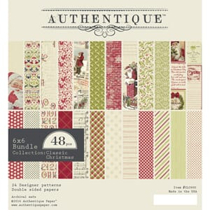 Authentique - Classic Christmas, 6x6, 24/Pkg