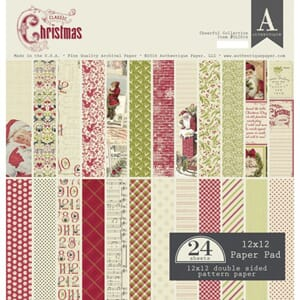 Authentique - Classic Christmas, 12x12, 24/Pkg