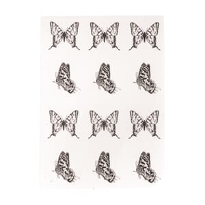 Transfer - Butterflies, black/clear, 2 ark a 10 stk