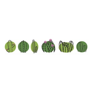 Washitape - Cactus Family, 15 mm x 15 m