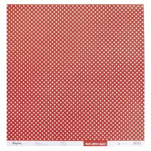 Kartong: Glitter dots - Classic Red