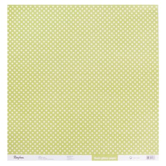 Kartong: Glitter dots - Light green