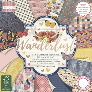 First Edition - Wanderlust, 6x6 Paper Pad, 48/Pkg