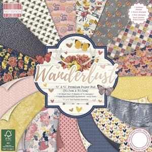 First Edition - Wanderlust, 12x12 Paper Pad, 48/Pkg