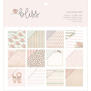 My Minds Eye - Bliss Paper Pad, 6x6 inch, 24/Pkg