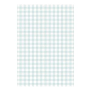 Decoupage papir - Blue Gingham, 3/pkg