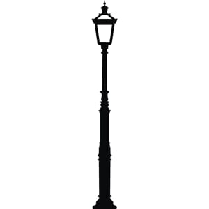 Wallsticker - Street light, black, str 18x150 cm