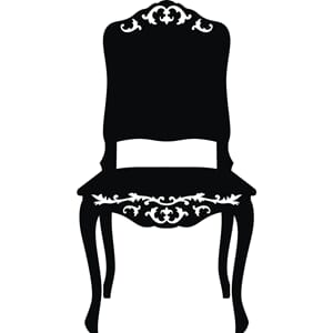 Wallsticker - Chair, black, str 49x90 cm