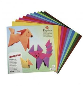 Rayher: Origami folding papers, 20x20 cm, 80g/m2