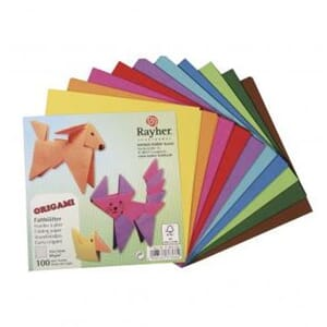Rayher: Origami folding papers, 10x10 cm, 80g/m2