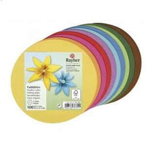 Rayher: Origami folding papers, rund, 80g/m2