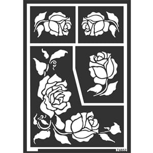 HOME DESIGN Window Style Design Stencil Roses