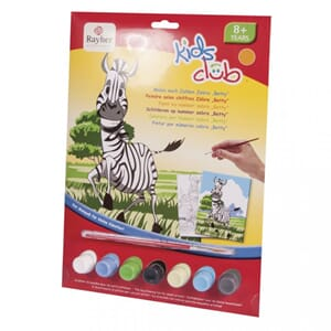 Kids Club: Paint by numbers - Zebra, str 22.5x29.4 cm