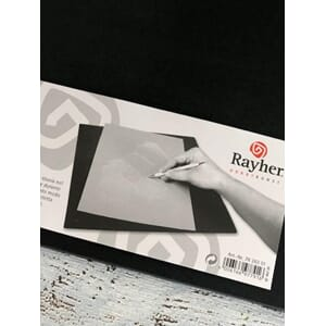 Embossing pad, black, 31x31 cm, 6 mm thick