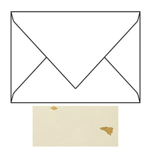 Envelope C6, 156x110 mm, gold, mulberry paper spotted, 105g,