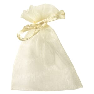 Little bags made of Organza, , cream, 7,5x10 cm, bag 6 pcs
