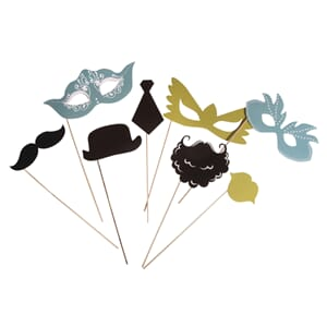 Party masker - Basic 1, 8/Pkg