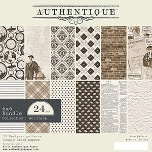 Authentique: Accolade Double-Sided Cardstock Pad, 6x6, 24/Pk