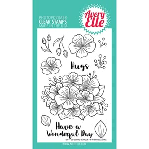 Avery Elle: Floral Bouquet Clear Stamp Set, 4x6 inch