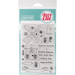 Avery Elle: Windmill Clear Stamp Set, 4x6
