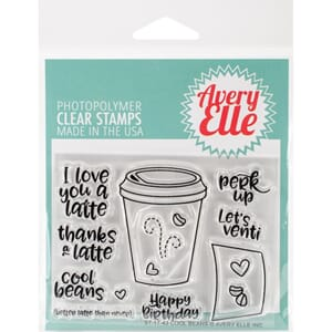 Avery Elle: Cool Beans Clear Stamp Set 4x3 inch