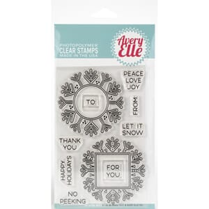 Avery Elle: Snow Tags - Clear Stamp Set, 4x6